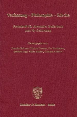 Cover Verfassung - Philosophie - Kirche