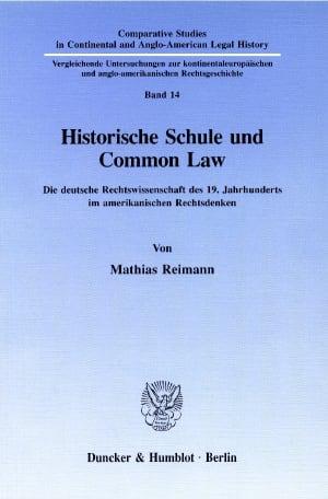 Cover Historische Schule und Common Law