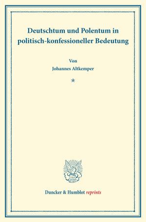 Cover Deutschtum und Polentum