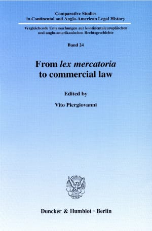 Cover From lex mercatoria to commercial law