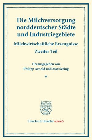 Cover Die Milchversorgung norddeutscher Städte und Industriegebiete