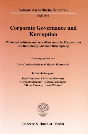 Cover Corporate Governance und Korruption