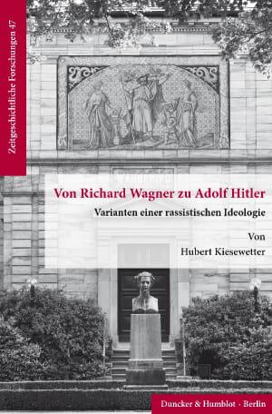 Cover Von Richard Wagner zu Adolf Hitler
