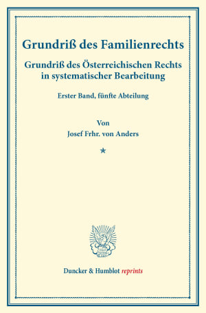 Cover Grundriß des Familienrechts