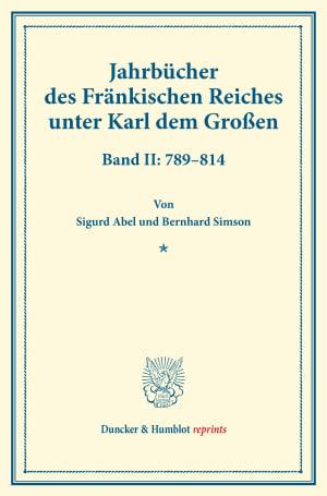 Cover Jahrbücher des Fränkischen Reiches unter Karl dem Großen
