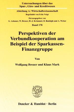 Cover Untersuchungen über das Spar-, Giro- und Kreditwesen. Abteilung A: Wirtschaftswissenschaft (SGK A)