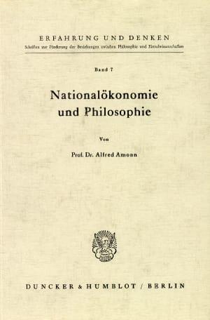 Cover Nationalökonomie und Philosophie