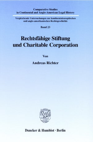 Cover Rechtsfähige Stiftung und Charitable Corporation