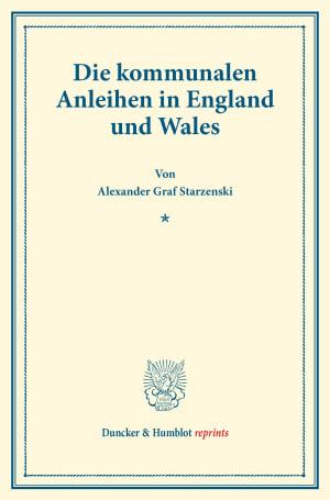 Cover Die kommunalen Anleihen in England und Wales
