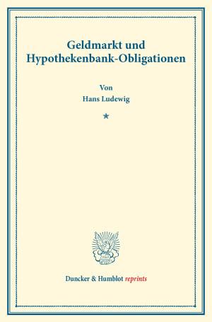 Cover Geldmarkt und Hypothekenbank-Obligationen