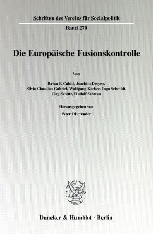 Cover Die Europäische Fusionskontrolle