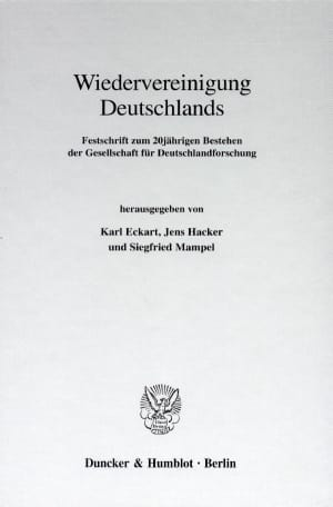 Cover Wiedervereinigung Deutschlands