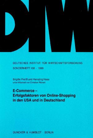 Cover E-Commerce - Erfolgsfaktoren von Online-Shopping in den USA und in Deutschland
