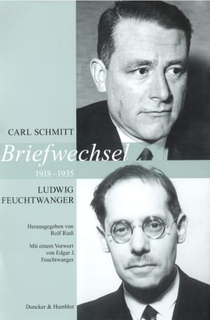 Cover Briefwechsel 1918–1935