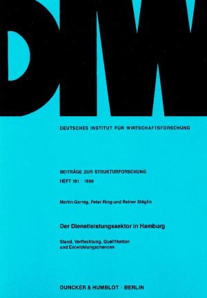 Cover Der Dienstleistungssektor in Hamburg