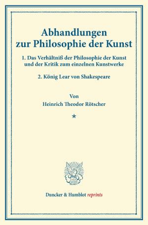 Cover Abhandlungen zur Philosophie der Kunst