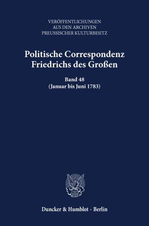 Cover Politische Correspondenz Friedrichs des Großen