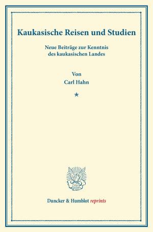 Cover Kaukasische Reisen und Studien