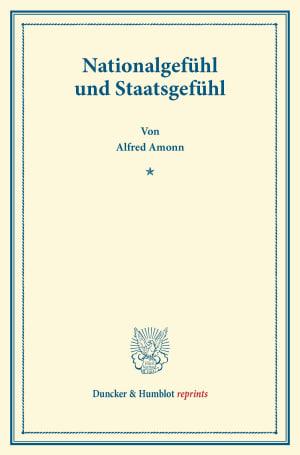 Cover Nationalgefühl und Staatsgefühl
