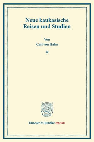 Cover Neue kaukasische Reisen und Studien