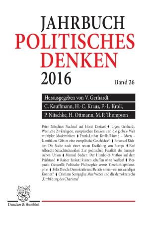 Cover Politisches Denken. Jahrbuch (JPD)