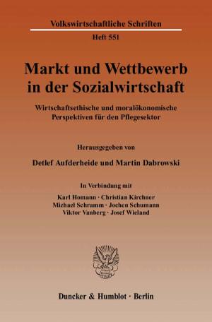 Cover Markt und Wettbewerb in der Sozialwirtschaft