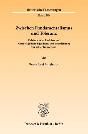 Cover Zwischen Fundamentalismus und Toleranz