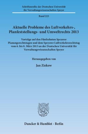 Cover Aktuelle Probleme des Luftverkehrs-, Planfeststellungs- und Umweltrechts 2013