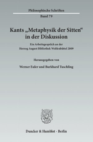 Cover Kants »Metaphysik der Sitten« in der Diskussion