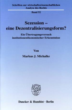 Cover Schriften zur wirtschaftswissenschaftlichen Analyse des Rechts (WAR)