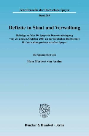 Cover Defizite in Staat und Verwaltung