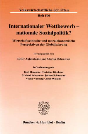 Cover Internationaler Wettbewerb - nationale Sozialpolitik?