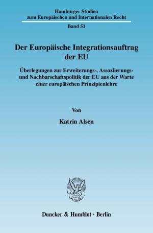 Cover Der Europäische Integrationsauftrag der EU