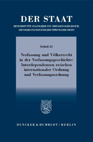 Cover Beihefte zu »Der Staat« (BH STAAT)