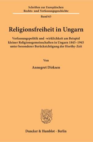Cover Schriften zur Europäischen Rechts- und Verfassungsgeschichte (ERV)