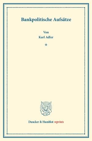 Cover Bankpolitische Aufsätze