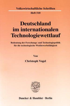 Cover Deutschland im internationalen Technologiewettlauf
