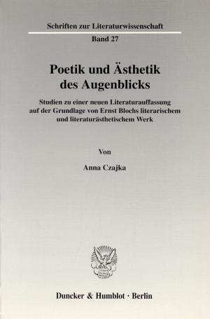Cover Poetik und Ästhetik des Augenblicks