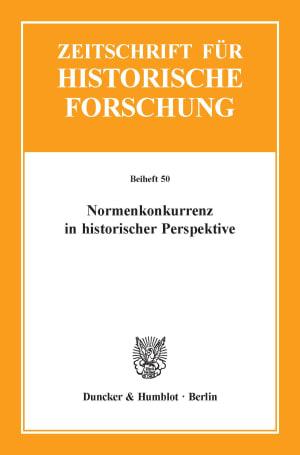 Cover Normenkonkurrenz in historischer Perspektive