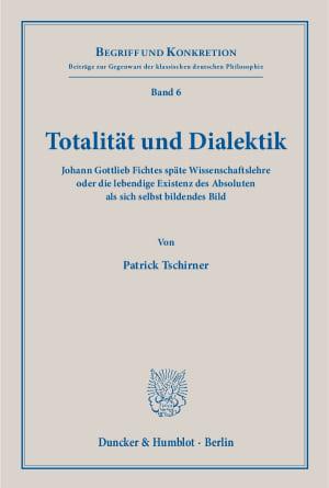 Cover Totalität und Dialektik
