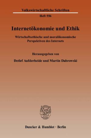 Cover Internetökonomie und Ethik