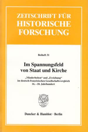 Cover Im Spannungsfeld von Staat und Kirche