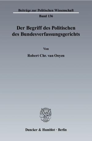 Cover Der Begriff des Politischen des Bundesverfassungsgerichts