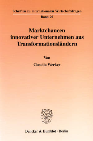 Cover Marktchancen innovativer Unternehmen aus Transformationsländern
