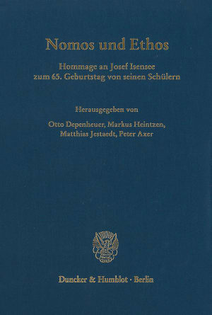 Cover Nomos und Ethos