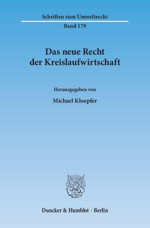 Cover Das neue Recht der Kreislaufwirtschaft
