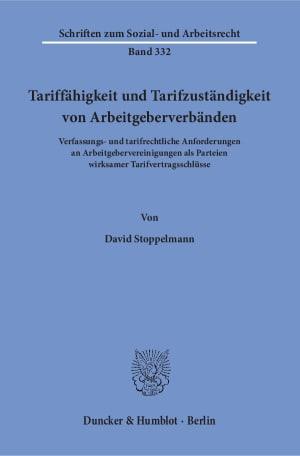 Cover Tariffähigkeit und Tarifzuständigkeit von Arbeitgeberverbänden