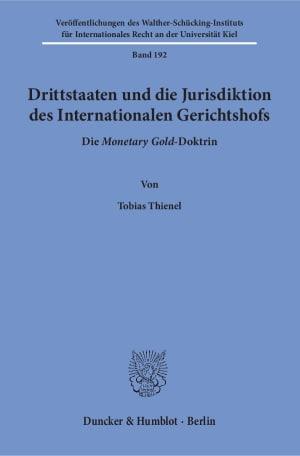 Cover Drittstaaten und die Jurisdiktion des Internationalen Gerichtshofs