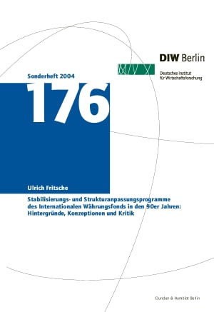 Cover Deutsches Institut für Wirtschaftsforschung. Sonderhefte (SH)