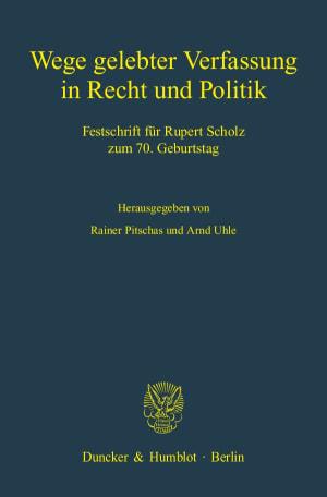 Cover Wege gelebter Verfassung in Recht und Politik